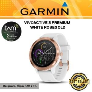 GARMIN VIVOACTIVE 3 PREMIUM WHITE ROSEGOLD - GARANSI RESMI TAM 2 TAHUN