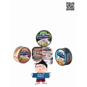 Paket King's Fisher Tuna Sarden In Canned- Daging Tuna n Sarden Kaleng