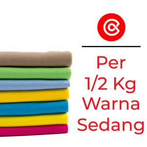 Kain kaos bahan kaos katun cotton combed 24s & 30s wrn Sedang 1/2 Kg