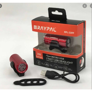 RAYPAL 2289 Lampu Depan Sepeda Headlight USB Charge ORIGINAL