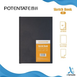 POTENTATE A5 Sketchbook 110 Sheets 100gsm Kertas Buku Gambar & Sketsa