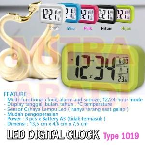 Jam Meja LED Digital / Modern LED Clock Style Tipe 1019 Minimalist