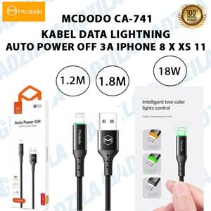 MCDODO CA-741 KABEL DATA LIGHTNING AUTO POWER OFF 3A IPHONE 8 X XS 11