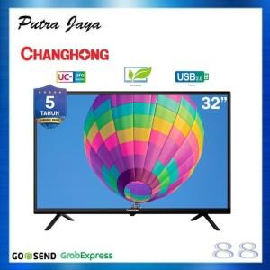 CHANGHONG LED TV 32 INCH L32G3 USB HDMI SLIM BEZZEL