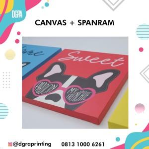 Cetak Foto Kanvas + Spanram 30 x 30 cm