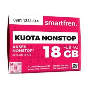 KARTU PERDANA NON STOP SMARTFREN 18 GB