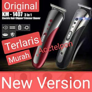 Mesin Cukur Kemei KM-1407 Clipper 3 in1 Alat cukur rambut charger