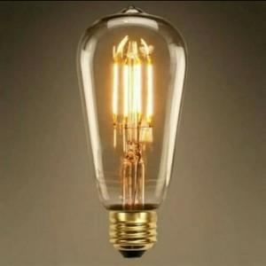 Lampu Led Filamen 4 Watt / Lampu Edison 4watt/Lampu Cafe 4w ST64