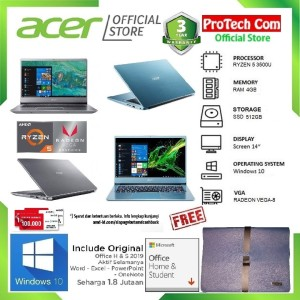 LAPTOP ACER SWIFT 3 SF314-41 RYZEN 5-3500U 4GB 512GB RADEON VEGA 8 W10