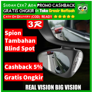 Promo 2 in 1 Car Blind Spot Mirror Wide Angle Kaca Mobil Spion Samping