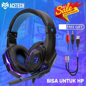 ACETECH Headset Gaming + Microphone - Gaming LED Champion / Headphone