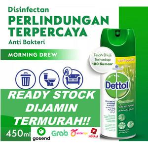 Dettol Disinfectan Spray Anti-Bacterial 450ml / Disinfektan 450ml - Morning Dew