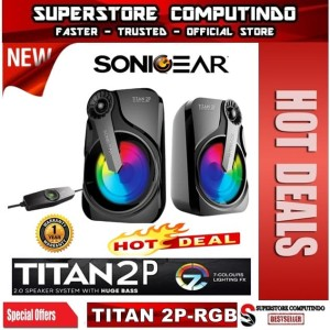 Sonicgear Titan 2. Speaker System With Huge Bass and 7 Color Lighting