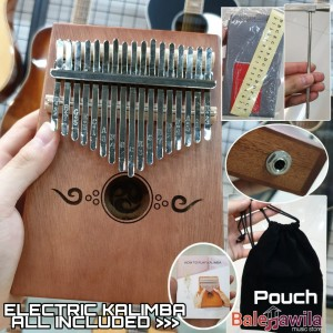 Kalimba Elektrik K17EF Import Mahogany Wood Kalimba 17 Keys Elextric