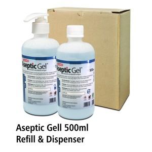 Aseptic Gel Hand Sanitizer 500ml Onemed (Dispenser & Refill)