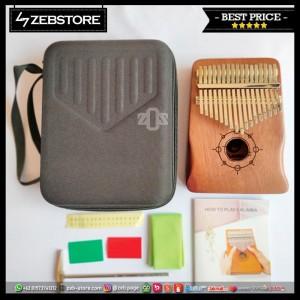 Kalimba Paladin Wood Mahogany Mbira 17 Keys Kunci K17S Hardcase Set