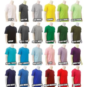 Kaos Polos T-Shirt Cotton Combed Katun Kombet 30s 100% Cotton