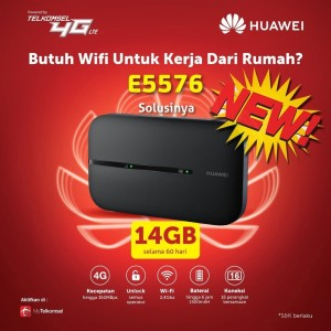 Mifi 4G LTE All Operator Huawei E5576 Telkomsel