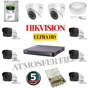 PAKET CCTV HIKVISION 8CH ULTRA HD 8 CAMERA 5MP HARDISK 2TB KOMPLIT
