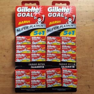 Silet, Gillette Goal 1 Renceng = 20 kotak