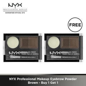 NYX Professional Makeup Eyebrow Powder Brown Buy 1 Get 1