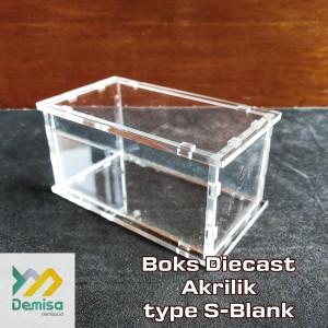 Boks Diecast Akrilik type S-blank