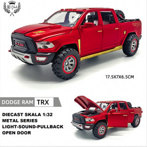 Diecast Miniatur mobil DODGE RAM TRX Pickup Metal Series skala 1:32