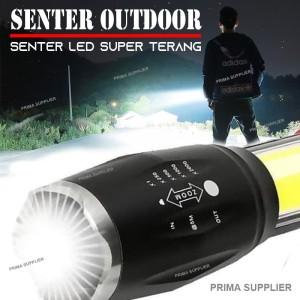 SENTER OUTDOOR SUPER TERANG 8000 LUMENS / SENTER LED SUPER TERANG