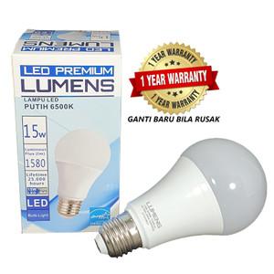 Lampu LED LUMENS 15w 15 watt 15watt putih TERANG MURAH, 110++ Lm/W