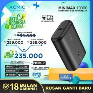 ACMIC MINIMAX SuperMini 10000mAh AiCharge Power Bank (QC4 + PD + VOOC)