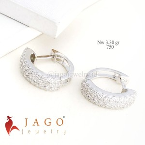 Anting Emas Corliss - Anting hoop kadar 750