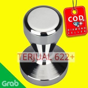 Recaps Tamper Kopi Espresso Flat Stainless Steel Chrome Plated 50mm