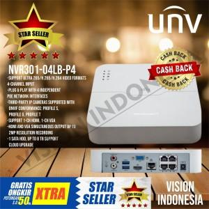 NVR UNIVIEW / UNV POE 4CH NVR301-04LB-P4 ORIGINAL