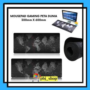Harga mouse pad gaming peta dunia keren 30cm | HARGALOKA.COM