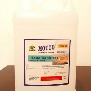 Harga motto hand sanitizer gel 5 liter khusus pengiriman via grab | HARGALOKA.COM