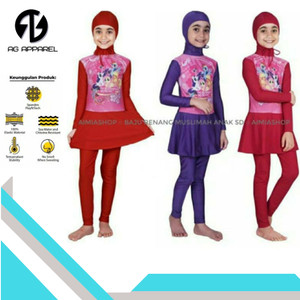 Harga baju renang muslim anak gambar lol pony unicorn frozen   m tk hello | HARGALOKA.COM