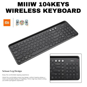 Harga miiiw 104 keys keyboard dual mode wireless bluetooth miiw   | HARGALOKA.COM