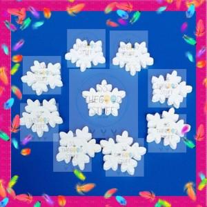 Katalog Kancing Kayu Salju Natal Snowflakes Putih Katalog.or.id