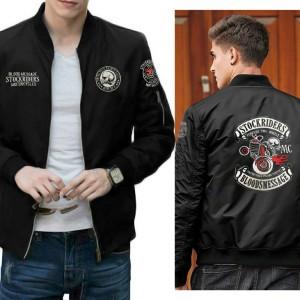 Harga jaket bomber motor rider bordir casual pria maskulin keren | HARGALOKA.COM