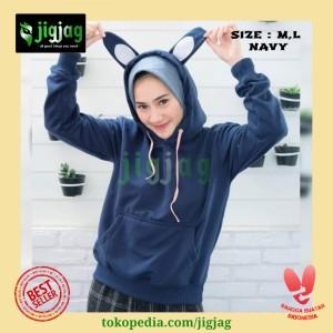 Harga jaket wanita keren sweater hoodie kekinian bunny vclub   vc | HARGALOKA.COM