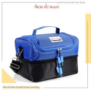 Harga lunch bag double decker tas bekal aluminium foil two tone style   duo tone | HARGALOKA.COM