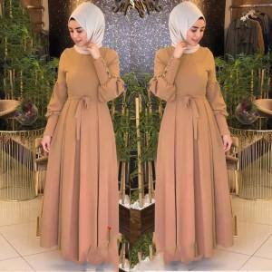 Harga dress muslim terbaru audi maxi pakaian muslim wanita   | HARGALOKA.COM