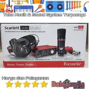 Harga focusrite scarlett solo studio 2nd gen audio interface | HARGALOKA.COM