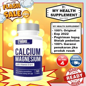 Harga treelains calcium magnesium vitamin d dan k 60 tabs | HARGALOKA.COM