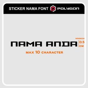 Harga cutting sticker sepeda stiker nama polygon bike font   | HARGALOKA.COM