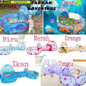 Harga kolam bola anak terowongan tenda main anak   saurus   HARGALOKA.COM