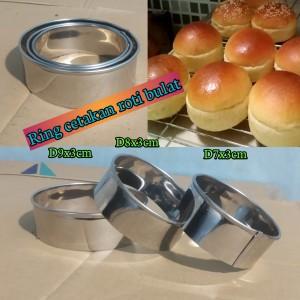 Harga set 3 pc ring cookies cutter cetakan adonan bulat cetakan | HARGALOKA.COM