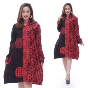 Harga dress batik kombinasi   | HARGALOKA.COM