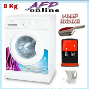 Harga mesin cuci denpoo front loading dfl 8 10g 8 | HARGALOKA.COM