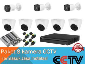 Harga paket 8 kamera cctv hd termasuk pasang jasa instalasi | HARGALOKA.COM